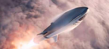 Elon Musk demonstra foto do primeiro protótipo da Starship