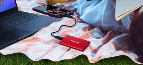 Começam as vendas do SSD portátil Samsung T7 com velocidades de até 1.050MB/s