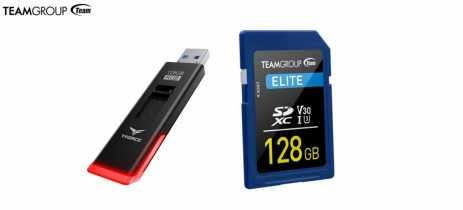 TeamGroup lança o pendrive T-Force Spark RGB e o cartão de memória Elite SDXC