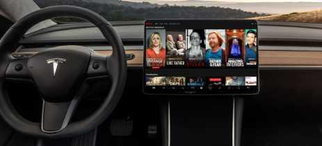 Carros da Tesla vão receber streaming da Netflix e YouTube em breve