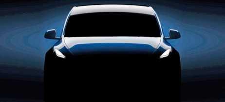 Tesla Model Y aparece em imagem que revela um pouco do design frontal do SUV compacto