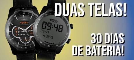 Relógio inteligente COM DUAS TELAS? Unboxing do TicWatch Pro 2020
