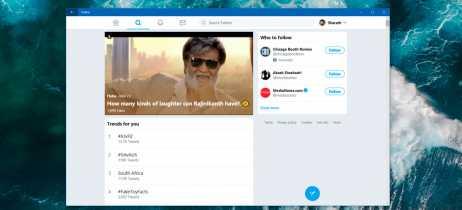 Twitter ganha nova versão na Windows Store com grandes mudanças