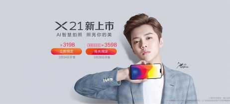 Vivo X21 é apresentado com opção de sensor de digitais no display