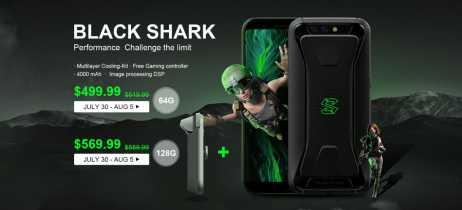 Começa venda do smartphone gamer Black Shark em versão global