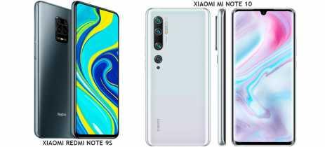 PROMOÇÃO: Xiaomi Mi Note 10 por US$399 e Redmi Note 9S por US$209