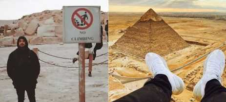 YouTuber é preso por cinco dias por escalar pirâmide de Gizé
