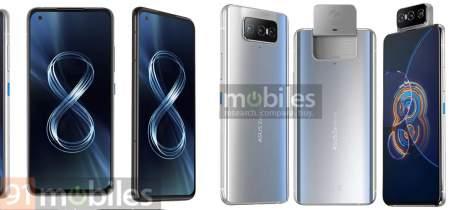 """Zenfone 8 Flip e Zenfone 8 """"Mini"""" aparecem em vazamento de specs e imagens"""