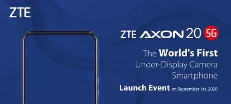 ZTE Axon 20, primeiro celular com câmera selfie embaixo da tela, chega dia 1 de setembro