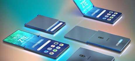 Patente da ZTE mostra telefone dobrável que não dobra exatamente ao meio