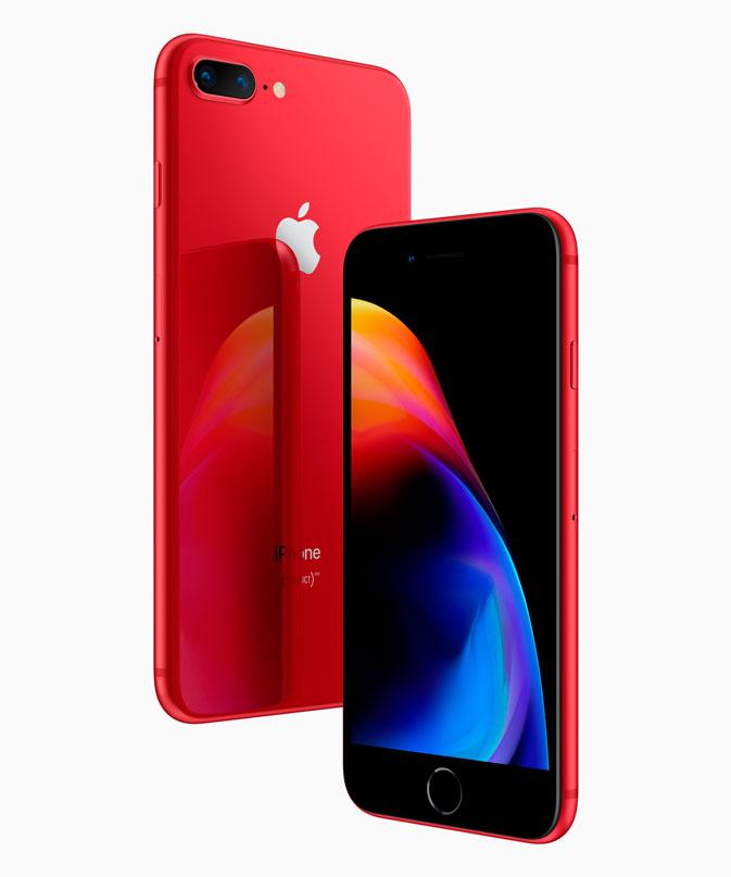 Apple anuncia os novos iPhones 8 e 8 Plus em vermelho