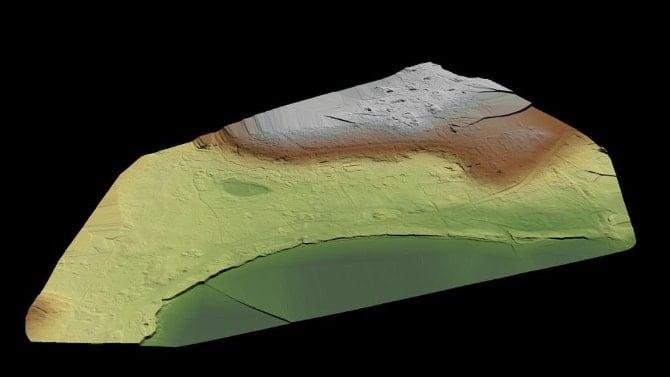 Mapeamento do terreno encontrado