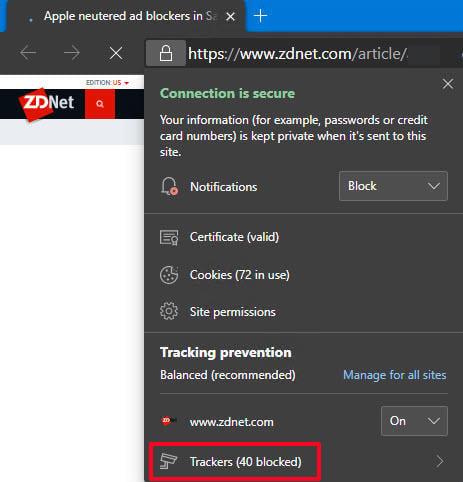 Recurso de prevenção de rastreamento do Microsoft Edge pode atingir o Google