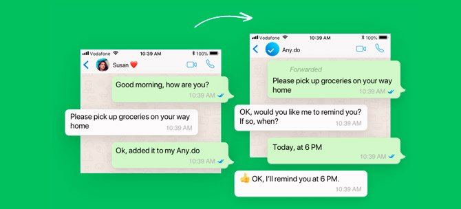 WhatsApp Partners with Any.do and Gets Reminders