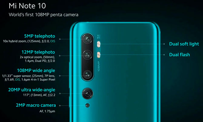 Xiaomi Mi Note 10 officially arrives in the Brazilian market from R $ 4,099