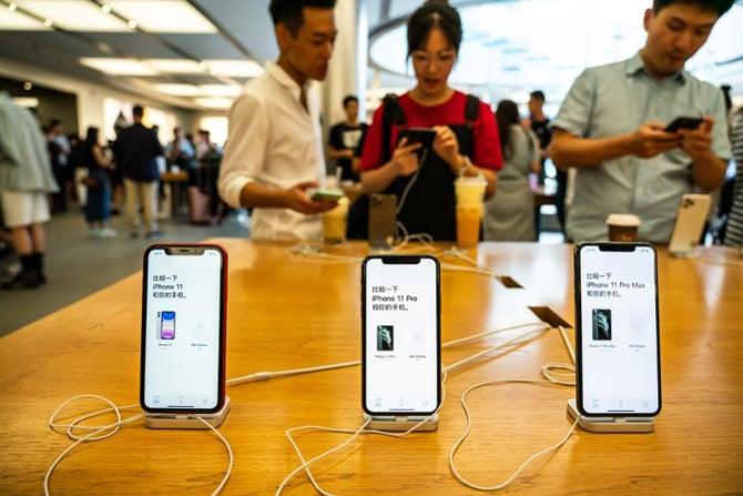 Vendas do iPhone apresentam queda na China