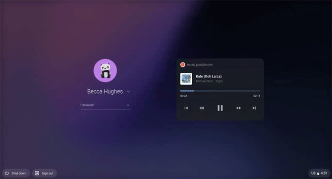 Chrome OS 79 can now display media controls on lock screen