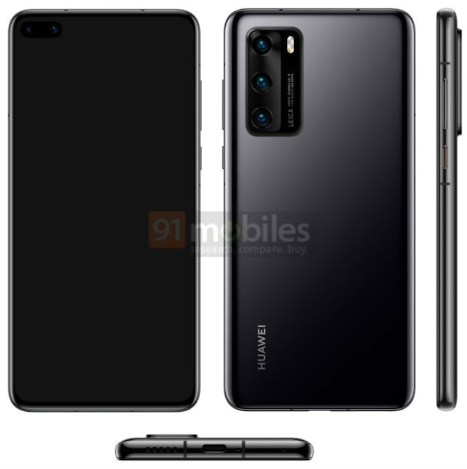 Possivel design do huawei p40