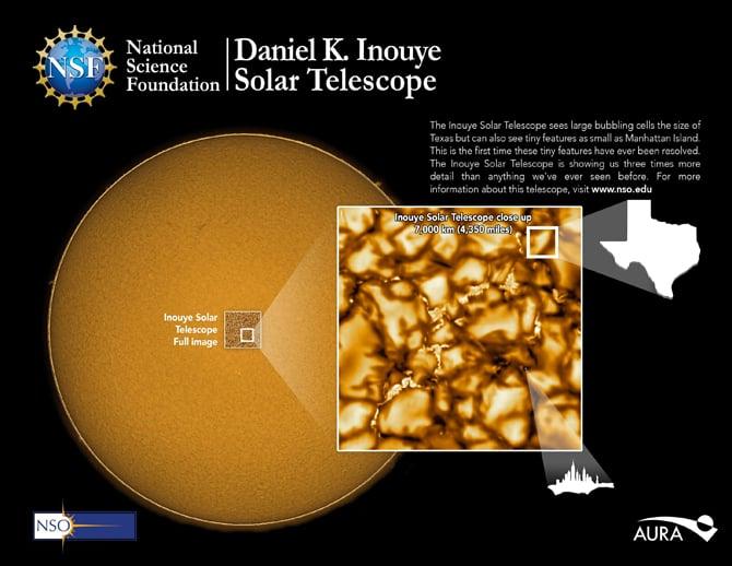 Telescópio solar revela imagens mais detalhadas da superfície do Sol