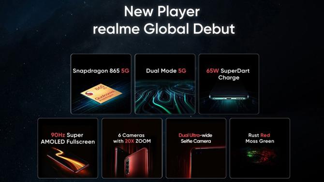 Realme X50 Pro 5G terá duas câmeras frontais de 32MP ultrawide para selfies