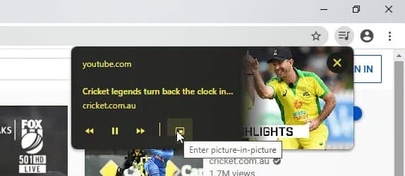 Google Chrome 82 testa novo botão para exibir vídeos no modo Picture-in-Picture