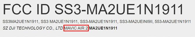 Drone DJI Mavic Air 2 aparece para certificação na FCC