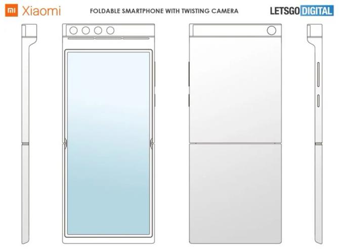 Patente da Xiaomi revela celular dobrável com câmera giratória