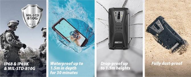 Blackview lança celular ultra resistente BV6900 com câmera noturna externa