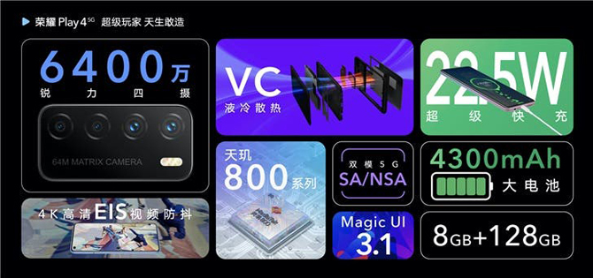Novo celular Honor Play 4 Pro chega com o chip Kirin 990 e com conectividade 5G