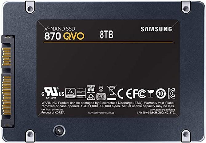 SSDs Samsung 870 QVO com até 8TB de capacidade aparecem na Amazon