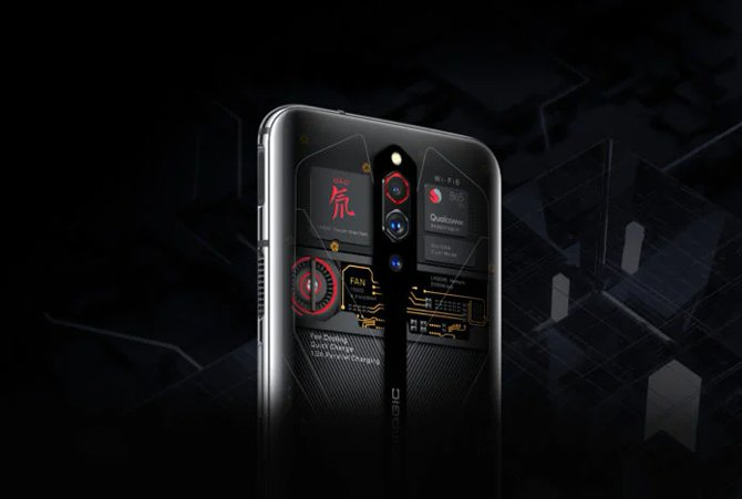 Nubia Red Magic 5G Transparent Edition vem com 16GB de RAM