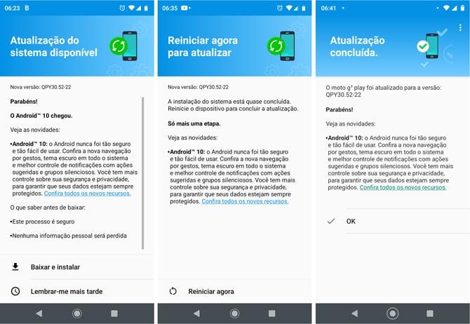 Moto G7 Play já começou a receber o Android 10 no Brasil