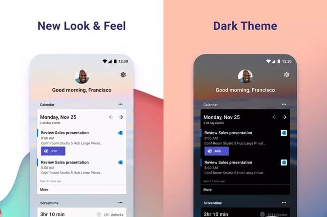 Microsoft Launcher para Android recebe modo escuro e outras novidades