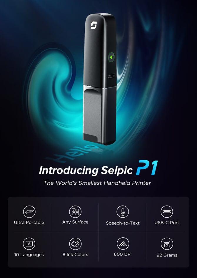 Selpic P1, menor impressora portátil do mundo, custa a partir de US$ 99
