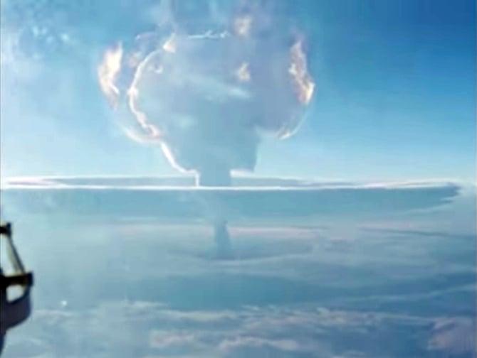 Novo vídeo mostra explosão da maior bomba de hidrogênio já criada