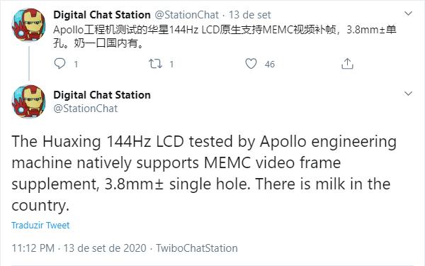 Xiaomi Mi 10T e Mi 10T Pro devem vir com telas LCD de 144Hz com tecnologia MEMC