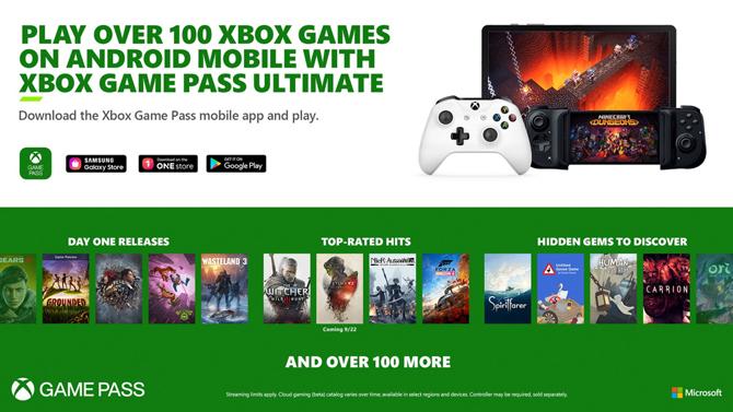 Xbox Game Pass Ultimate chega ao Android com mais de 100 jogos disponíveis