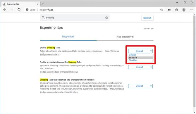 Microsoft Edge poderá suspender guias inativas para poupar recursos