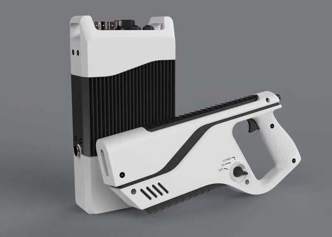 Pistola anti-drone Paladyne E1000MP tem alcance de até 1km