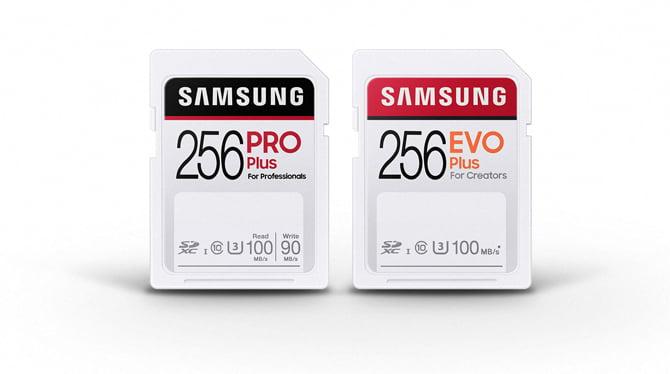 Samsung anuncia cartões SD EVO Plus e PRO Plus para profissionais