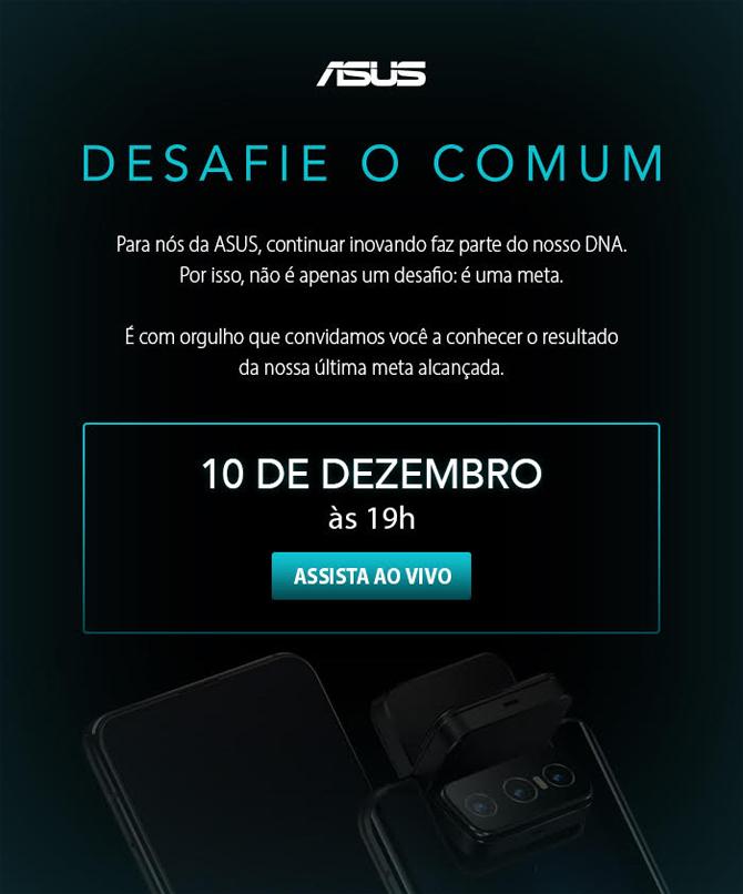 ASUS confirma que o Zenfone 7 será lançado dia 10 de dezembro no Brasil