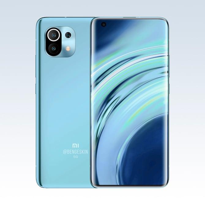 Renderização do Xiaomi Mi 11 mostra o suposto design do novo celular