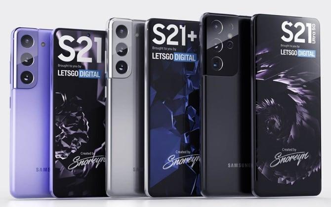 Samsung Galaxy S21, Galaxy S21+ e Galaxy S21 Ultra aparecem em novas renderizações