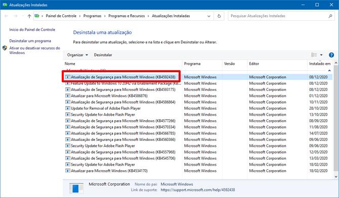 Windows 10 20H2: Comando chkdsk causa problema após instalação de atualização