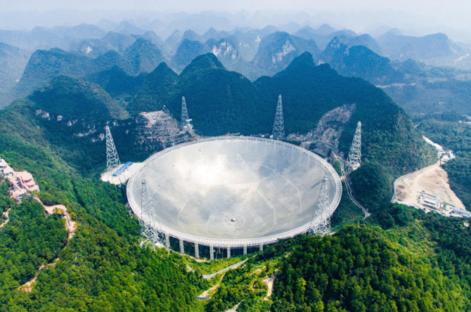 Radiotelescópio chinês FAST será aberto para cientistas estrangeiros em abril