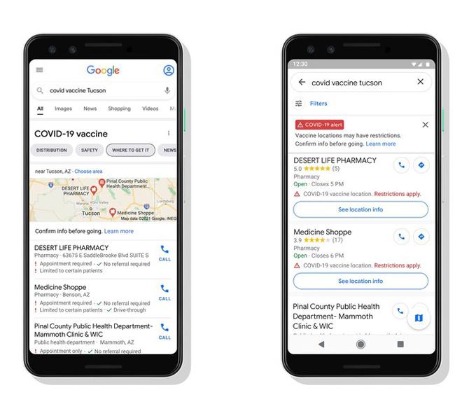 Google Maps começará a exibir em breve locais de vacinação contra a COVID-19