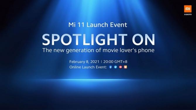 Xiaomi Mi 11 global será lançado no dia 8 de fevereiro