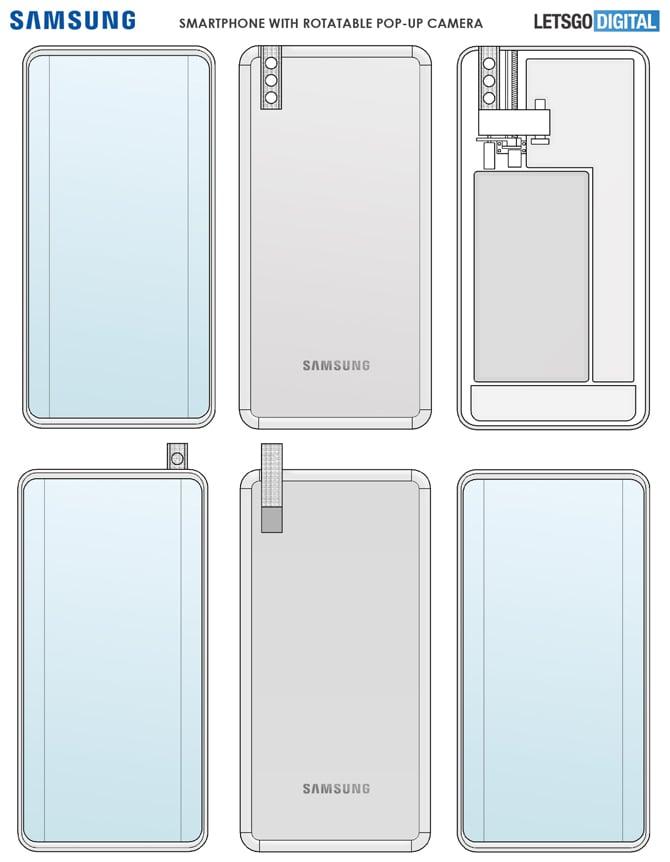 Patente da Samsung mostra celular com câmera retrátil giratória