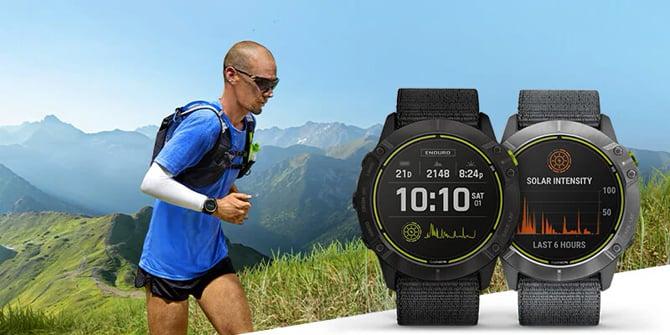 Smartwatch Garmin Enduro tem 65 dias de bateria e carregamento solar