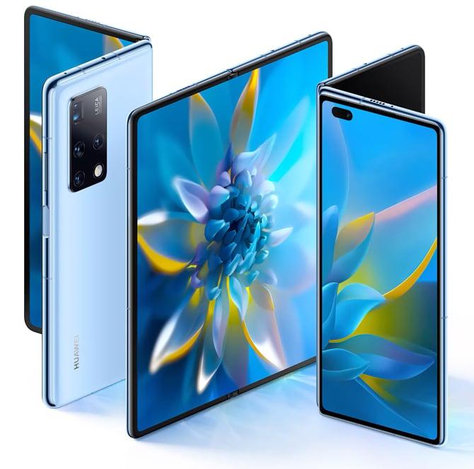 Celular dobrável Huawei Mate X2 adota design com duas telas